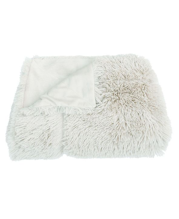 "THRO Chubby Faux Fur Decorative With Micromink Back, 50"" X 60"""