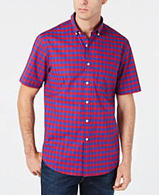 Club Room Men's Regular-Fit Stretch Check Shirt, Created for Macy's