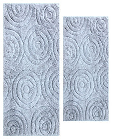 Circles 2 Pc Cotton Bath Rug Set