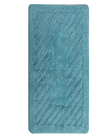 Diagonal Racetrack 21x34 Cotton Bath Rug