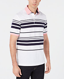 Club Room Men's Regular-Fit Stretch Stripe Polo, Created for Macy's