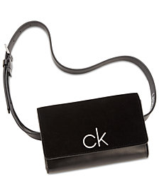 Calvin Klein Suede & Leather Belt Bag