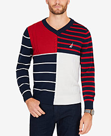 Nautica Men's Patchwork Sweater