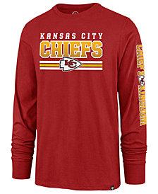 '47 Brand Men's Kansas City Chiefs Level Up Long Sleeve Super Rival T-Shirt