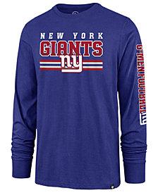 '47 Brand Men's New York Giants Level Up Long Sleeve Super Rival T-Shirt