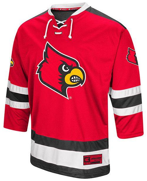 the latest 740a0 b30cb Colosseum Men's Louisville Cardinals Fashion Hockey Jersey ...