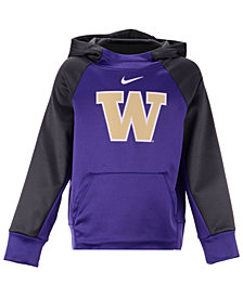 Nike Washington Huskies Therma Color Block Hoodie, Big Boys (8-20)