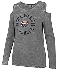 Women's Oklahoma City Thunder Cold Shoulder Long Sleeve T-Shirt
