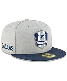 New Era Boys' Dallas Cowboys Sideline Road 59FIFTY FITTED Cap