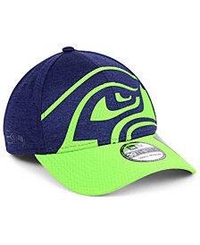New Era Seattle Seahawks Oversized Laser Cut Logo 39THIRTY Cap