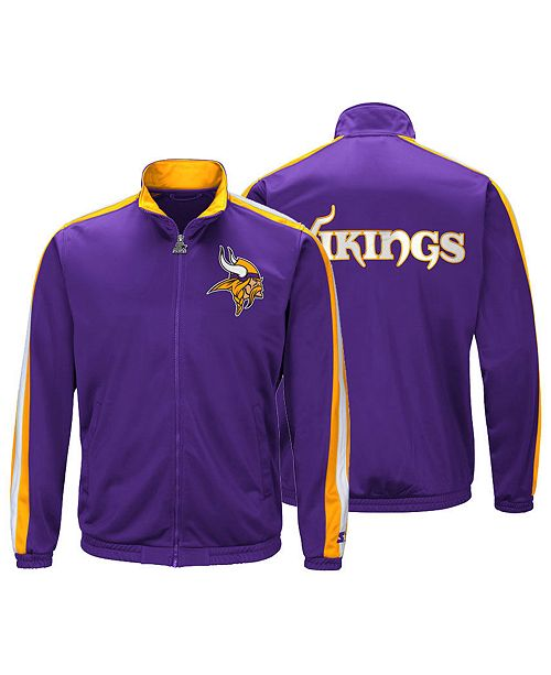 big sale 7a4db d4416 Starter Men's Minnesota Vikings The Challenger Track Jacket ...