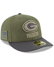 New Era Green Bay Packers Salute To Service Low Profile 59FIFTY Fitted Cap 2018