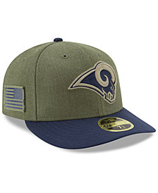 New Era Los Angeles Rams Salute To Service Low Profile 59FIFTY Fitted Cap 2018