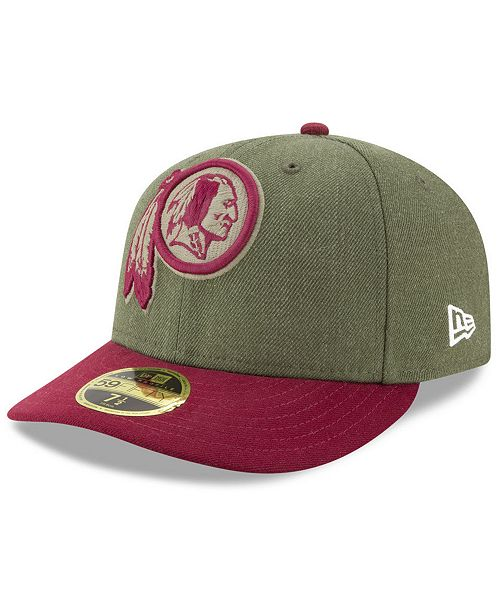 detailed look d0f80 2fe1f ... New Era Washington Redskins Salute To Service Low Profile 59FIFTY  Fitted Cap 2018 ...