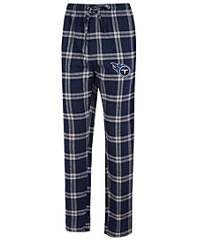 Concepts Sport Men's Tennessee Titans Homestretch Flannel Sleep Pants