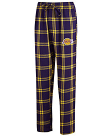 Concepts Sport Men's Los Angeles Lakers Homestretch Flannel Sleep Pants