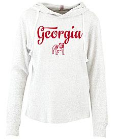 Pressbox Women's Georgia Bulldogs Cuddle Knit Hooded Sweatshirt