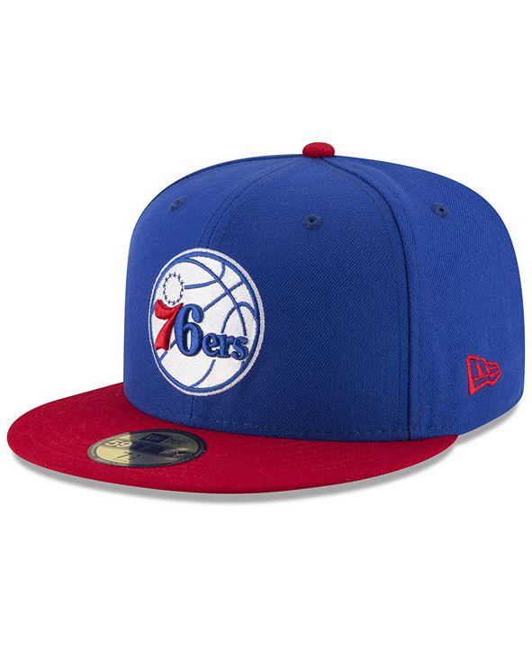New Era Philadelphia 76ers Basic 2 Tone 59FIFTY Fitted Cap