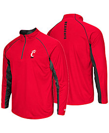 Colosseum Men's Cincinnati Bearcats Rival Quarter-Zip Pullover