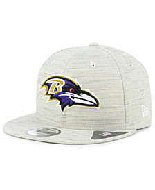 New Era Baltimore Ravens Luxe Gray 9FIFTY Snapback Cap