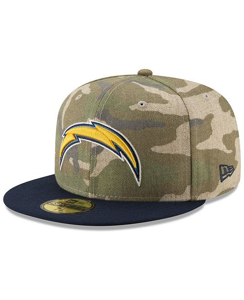 reputable site 1caa0 fa31b ... New Era Los Angeles Chargers Vintage Camo 59FIFTY FITTED Cap ...