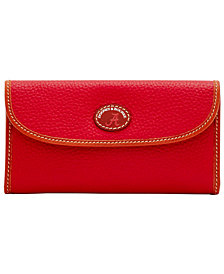 Dooney & Bourke Alabama Crimson Tide Pebble Continental Clutch