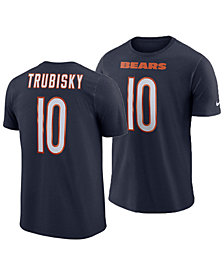 864860a93 Nike Men s Mitchell Trubisky Chicago Bears Pride Name and Number Wordmark T- Shirt