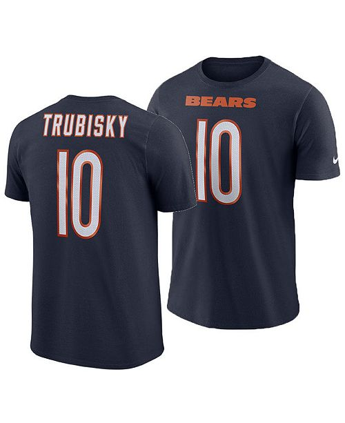 Nike Men's Mitchell Trubisky Chicago Bears Pride Name and Number Wordmark T-Shirt