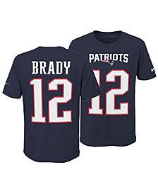 Nike Tom Brady New England Patriots Pride Name and Number 3.0 T-Shirt, Big Boys (8-20)