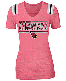5th & Ocean Women's Arizona Cardinals Shoulder Stripe T-Shirt