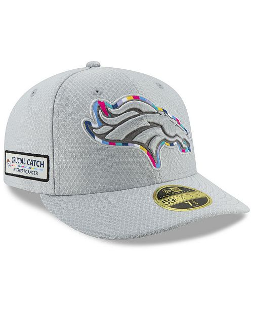 ... New Era Denver Broncos Crucial Catch Low Profile 59FIFTY Fitted Cap ... 401fd922954e