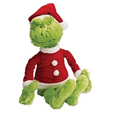 Manhattan Toy Dr. Seuss The Grinch In Santa Suit Soft Toy
