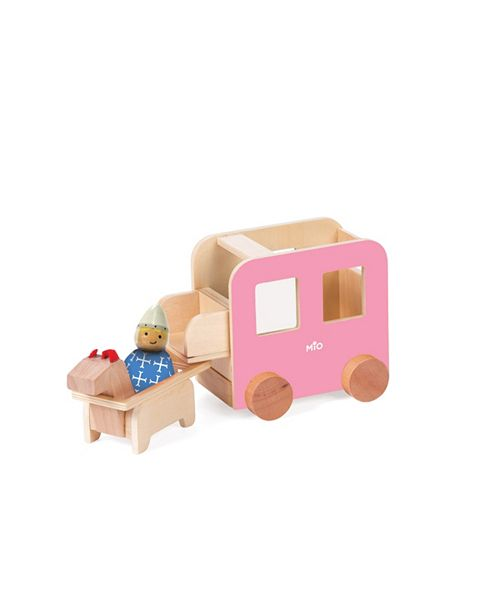 Manhattan Toy Company Manhattan Toy Mio Wooden Carriage Horse 1 Person Imaginative Play Kit
