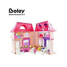 Boley 21 Piece Collapsible Doll House Set