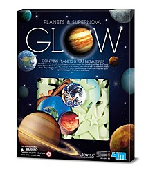 4M Glow In The Dark Planets And Supernova Stars Wall And Ceiling Stickons