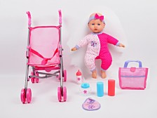 Gi Go Toy Dream Collection 14 Inches Baby Doll With Stroller Set
