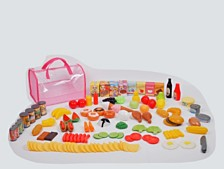 Gi Go Toy 120 Piece Play Food In Carry Bag