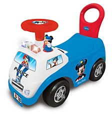 Kiddieland Disney Mickey Mouse My First Mickey Police Car Light And Sound Activity Ride On