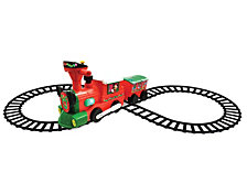 Kiddieland Disney Mickey And Minnie Mouse 2 In 1 Battery Powered Ride On Christmas Train With Caboose And Tracks