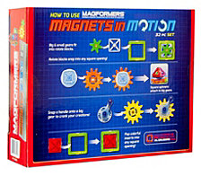 Magformers Magnets In Motion 32 Piece Magnetic Construction Gear Set