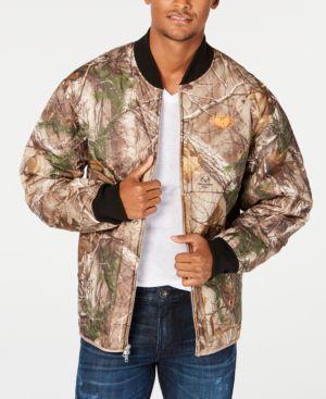 WU WEAR Men'S Tree Print Work Jacket in Camo