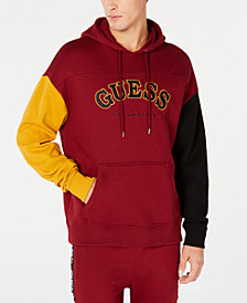 GUESS Men's Roy Colorblocked Logo Hoodie