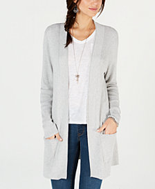 Style & Co Long Thermal-Stitch Cardigan Sweater, Created for Macy's