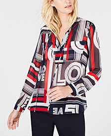 Tommy Hilfiger Love-Print Top, Created for Macy's