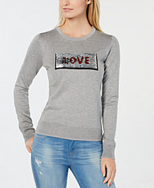 Tommy Hilfiger Sequin Patch Sweater, Created for Macy's