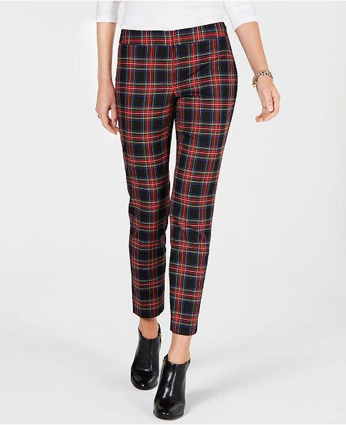 7a8262bed8 Tommy Hilfiger Plaid Slim-Fit Trousers, Created for Macy's & Reviews ...