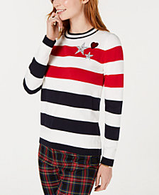 Tommy Hilfiger Cotton Stars and Stripes Sweater, Created for Macy's