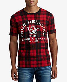 True Religion Men's Plaid Logo T-Shirt