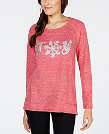 Style & Co Petite Joy Graphic-Print Sweatshirt, Created for Macy's
