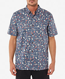 Jack O'Neill Men's Cool Yule Holiday Aloha Print Casual Shirt